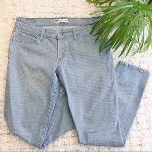 Levi's 524 Too Superlow Striped Jeans Size 11